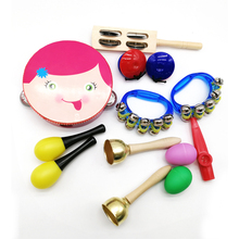 Novelty Kids Roll Drum Musical Instruments Band Kit Children Toy Baby Gift Set with storage backpack