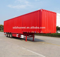 Widely Used 3 Axles Food Van Truck New Or Used Transport Cargo Aluminum Box Semi Trailer