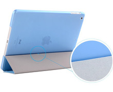 Magnetic Smart cover+Translucent Color PC Back Cover whole set for iPad Air