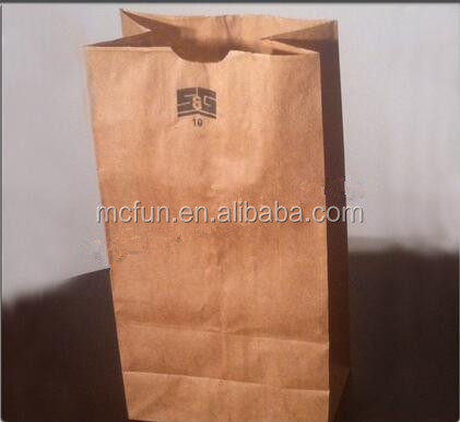 Brown kraft grocery shopping paper bags new