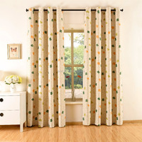Latest curtain design grommet curtains and drapes of printing curtain