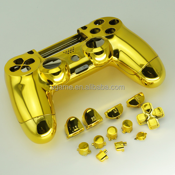 Mod Kit Parts For PS4 Controller Chrome Gold