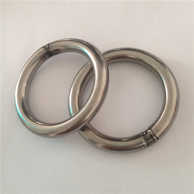 Custom size polishing stainless steel O wire wreath ring