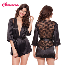 Wholesale High Quality Transparent Lace Satin Women Nightwear Sexy Nighty Sex Sleepwear
