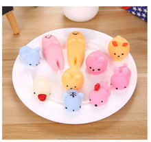 Hot 3D Cute Squishy Animal Mochi Silicone Toy for kids Gift Squeeze Pinch Lovely Cat Toys Stress Release with wholesale price