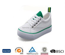 no label best quality cool style lace up thin bottom boys white canvas shoes