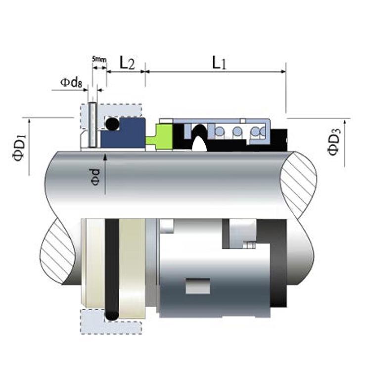Alta qualidade 502 tipo de vedação para a bomba de água industrial compressor de refrigeração bitzer vedação do eixo mecânico