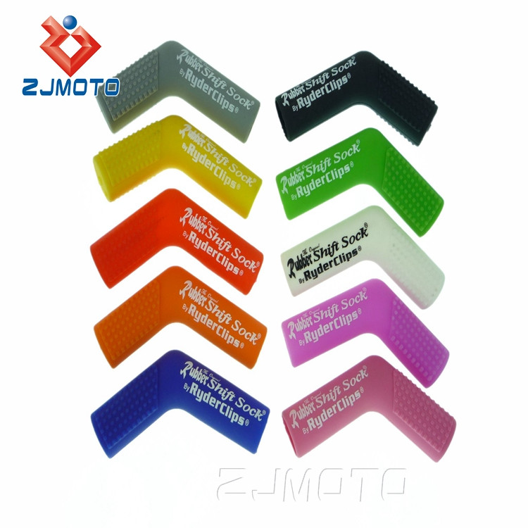 Zjmoto Motorcycle Rubber Shoe Protector Of Shift Sock By Ryder Clips Fits Most Sport Bike Street Dirt & ATV Shifters