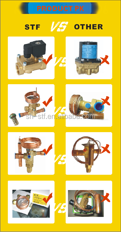 Easy Capacity Matching Brass Thermostatic Valve TCLE TRFE Expansion Valve