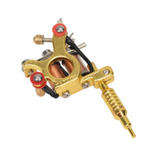GS100 Fashion Mini Gun Tattoo Machine cool Pendant Toy with Chain Golden Hot Selling New Quality