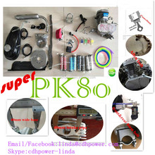 Colorful super PK80 for sale with NTN bearing 2 stroke 80cc motor