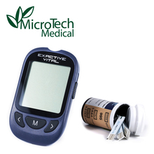 EXACTIVE Blood Glucose Meter with Silver Glucose Test Strips