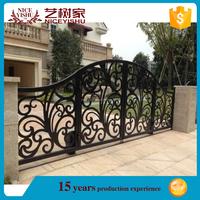 modern custom made pedestrian laser cut gates /wrought iron driveway gate / aluminum garden gates design