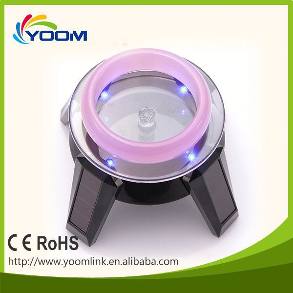 CE ROHS shenzhen led solar foam board display stand electric rotating display stand mobile phone security display stand