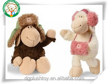 Wearing a white take the sheep dolly fleece toy doll/ gift dolls Plush toy