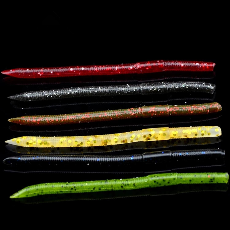 new products artificial type senkos earthworm fishing lure soft plastic lure grub worm