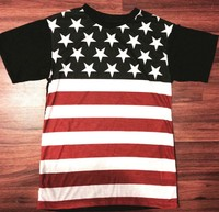 SPRING / SUMMER WEAR MENS STRIPES AND STARS FLAG T SHIRT