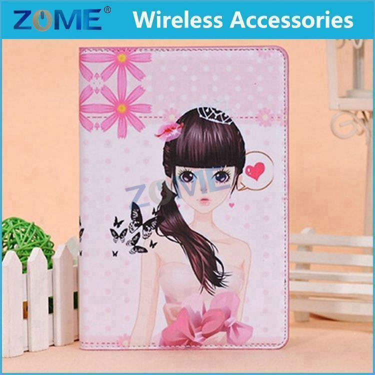 High-end Flip with Taste Colorful Printing Economic Cute Leather Case For iPad Mini 1