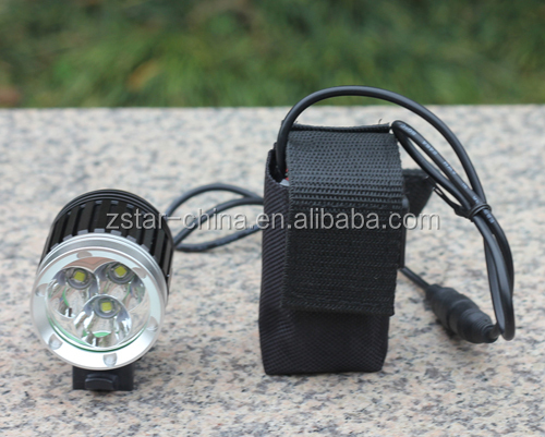 Max 4000 Lumen 3*16850 Battery XML-T6 LED High Power rechargeable bicycle head lamps