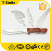 Emergency pocket multi knife with wooden handle