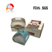 Wholesale Matte Clear Custom Square Cake Box With Handle