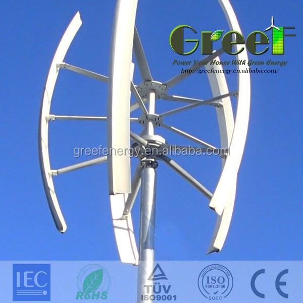 New!Small home use vertical windmill generator,wind power generator, vertical axis wind generator 5kw!