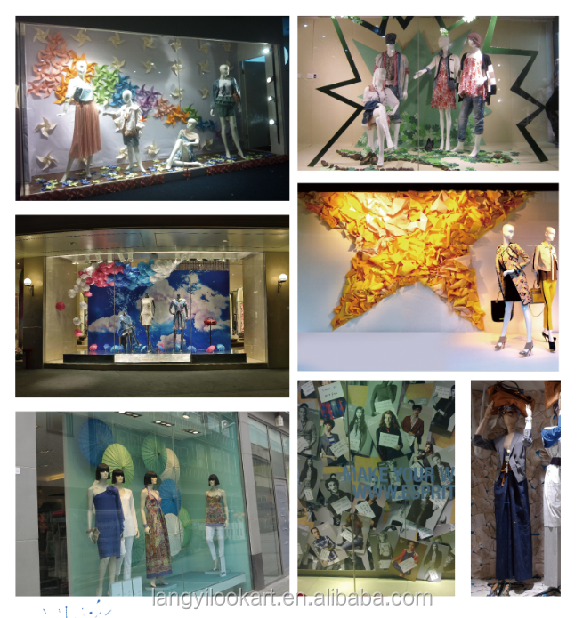 Window retail & shoes display props design OEM accepted