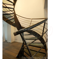 save space circular staircases/tempered glass round ladder