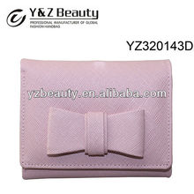 Pink Leather Woman Wallet Cute Case for iPhone 5 Credit Card Clutch Purse