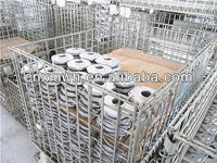 galvanized steel mesh wire storage cage/plastic container/collapsible pallet for sale