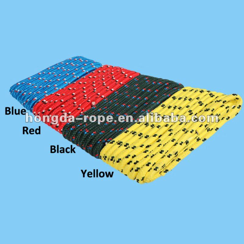 Equipments producing boat accessories yellow polyester boat tow rope