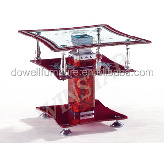 popular modern style small size tempered glass coffee table side table side desk