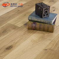 13mm Oak Brushed Matt Lacquered engineered wood flooring
