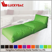 lazy beanbag sofa chair,outdoor green long foldable beanbag bed