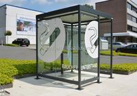 smoking shelter metal poplur design /bus shelter metal factory price