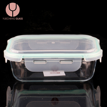Microwave Oven Glass Food Storage Container Lunch Box With Airtight Lid
