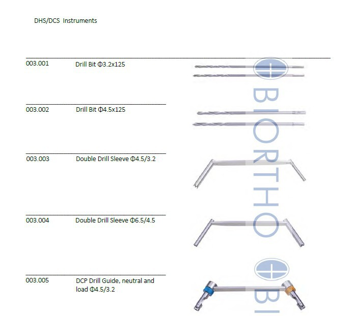 DHS DCS Instruments Set, Orthopedic Instruments