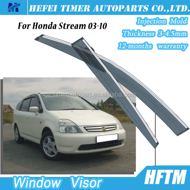 Car accessories air deflector door visor for Honda Stream 03-10