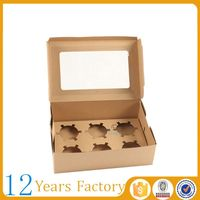 Free coupon $1000 kraft paper cupcake box food packaging