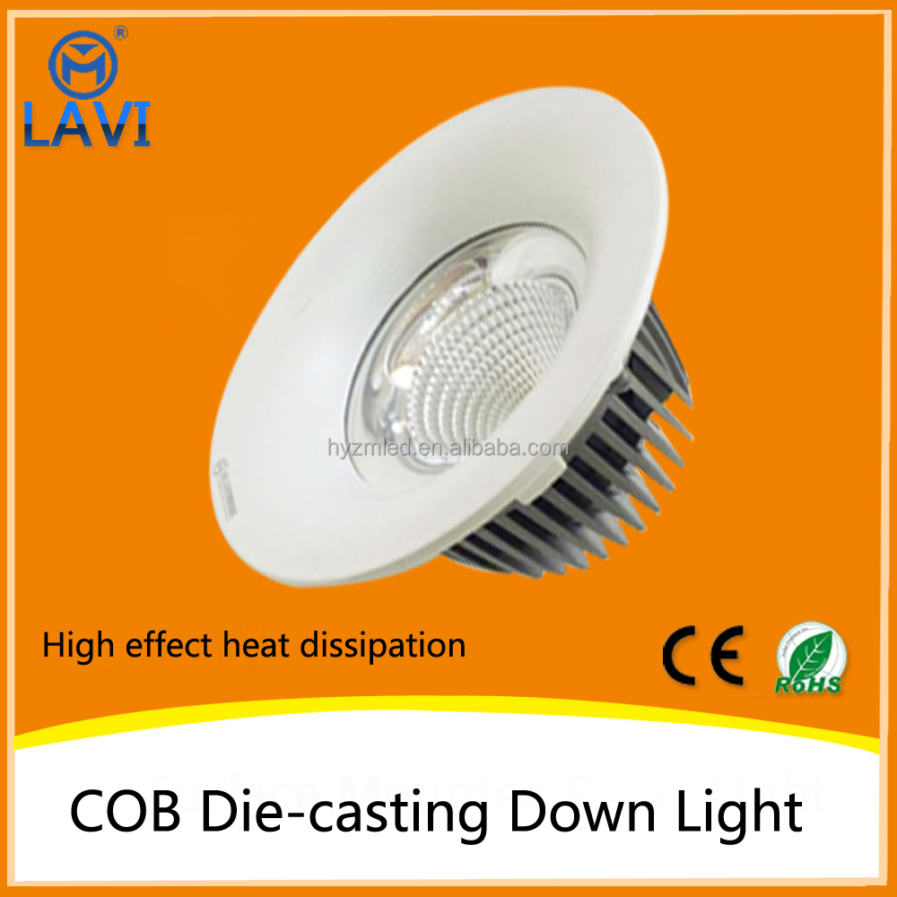 zhong shan led lighting led downlight,cob led downlight 5w 10w 20w 30w 50w