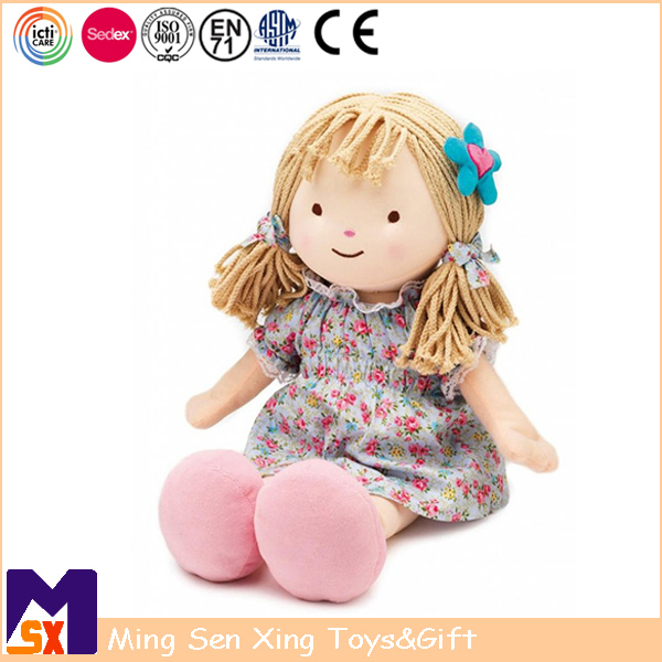 2017 new products lovely stuffed rag doll plush baby cloth doll for baby toy gifts