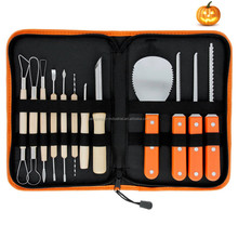 wholesale Pro 12 Piece Halloween Jack-O-Lanterns Pumpkin Sculpt wood Carving Tools Kit with Cuts, Scoops, Scrapers, Saws, Loops