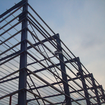 Large span recycle steel structure warehouses and wokshops