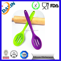 Silicone kitchen food mixing serving Slotted Cooking Spoon