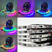 wholesale car led lighting strip ws2811 addressable 12v 24V flexible waterproof 5050 rgb led strip