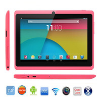 7 inch Quad Core Tablet PC Q88 512MB/1GB RAM 8GB ROM Allwinner A33 Bluetooth Android 5.1 1024*600 Tablet Google Play