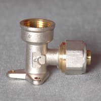 pex copper compression fitting union for underfloor heating pipe