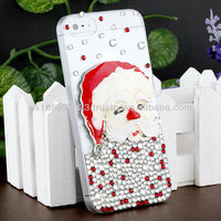 Smart Diamond Bling Phone case with Cantas Claus Pattern for Iphone 5/5s