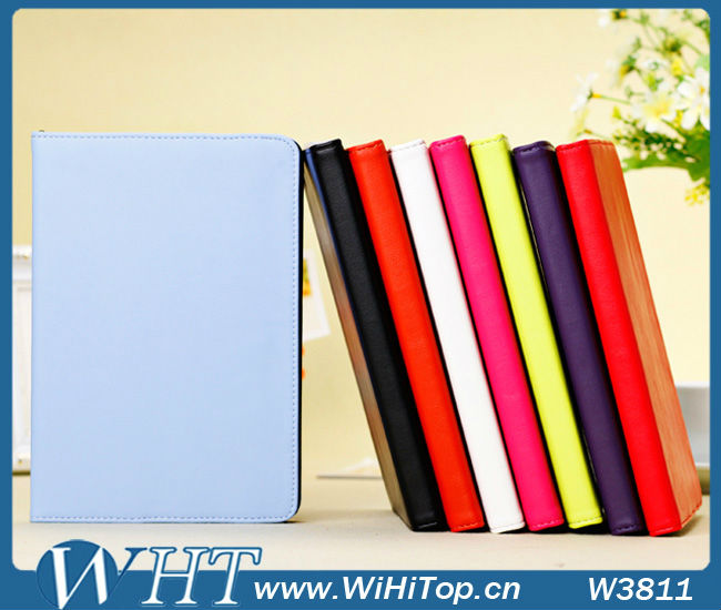 Korean Style Leather Flip Case.Stand Wallet Case PU Leather Cover Skin For iPad Mini