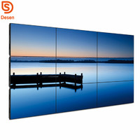 2018 Multiple advertising 4k led video wall tv display, 3*3 Multi screen DID lcd video wall